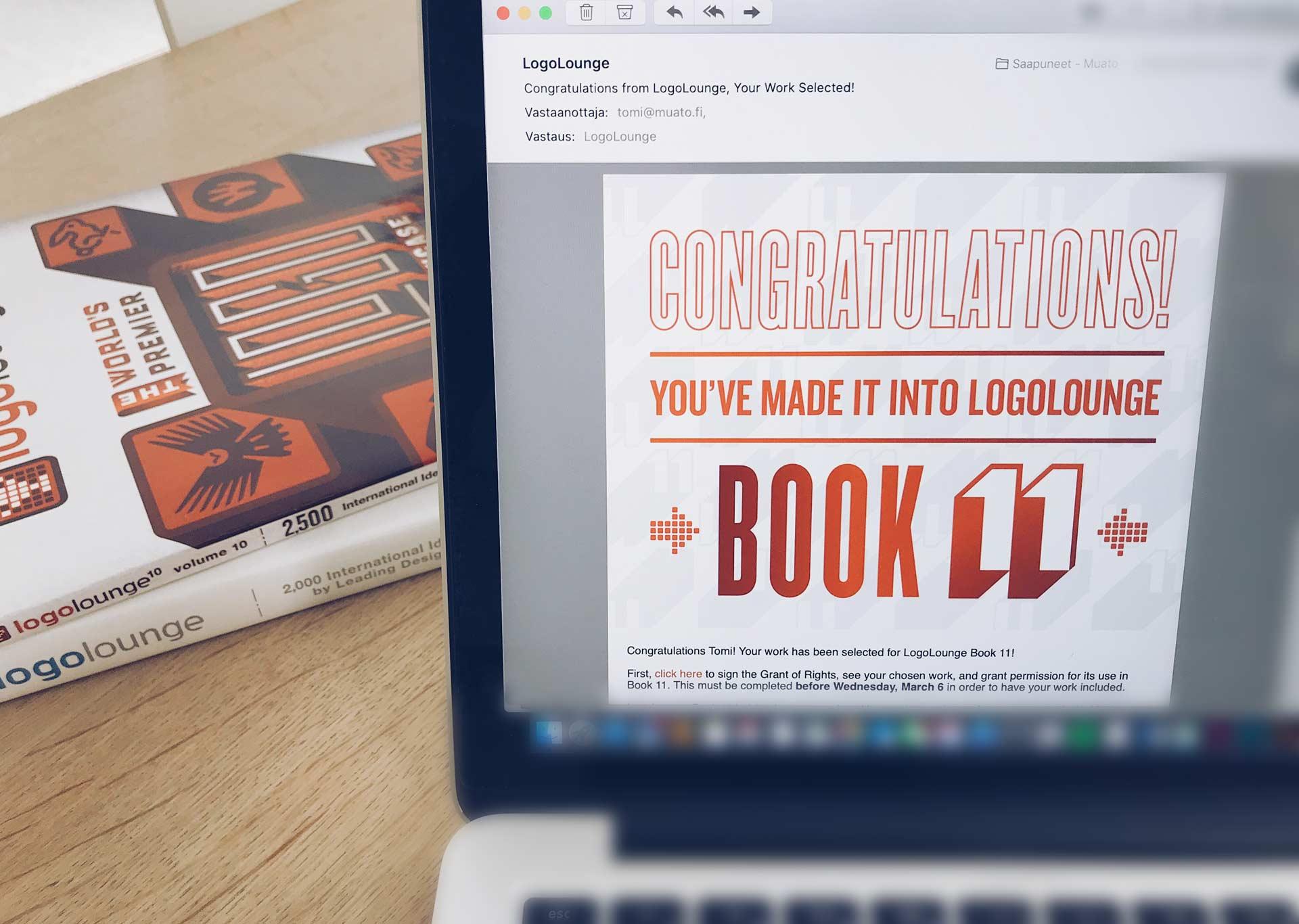 Fiilis kun avaat meilin ja tekemäsi logosuunnittelu saa kansainvälistä huomiota